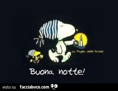 Snoopy Buona Notte Facciabuco Com